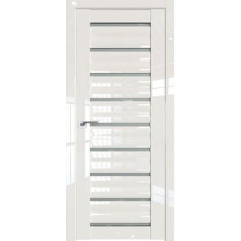 Дверь Профиль дорс 76L Магнолия люкс - со стеклом (Товар № ZF209417)