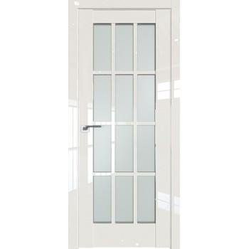 Дверь Профиль дорс 102L Магнолия люкс - со стеклом (Товар № ZF209423)