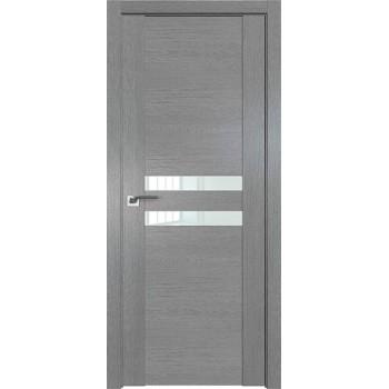 Дверь Профиль дорс 2.03XN Грувд серый - со стеклом (Товар № ZF209667)