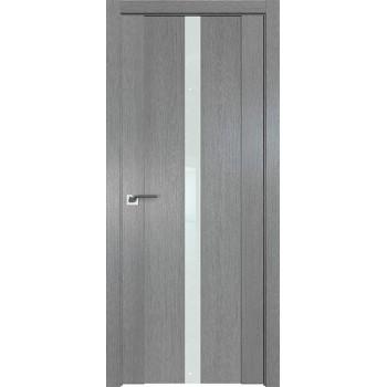Дверь Профиль дорс 2.04XN Грувд серый - со стеклом (Товар № ZF209672)