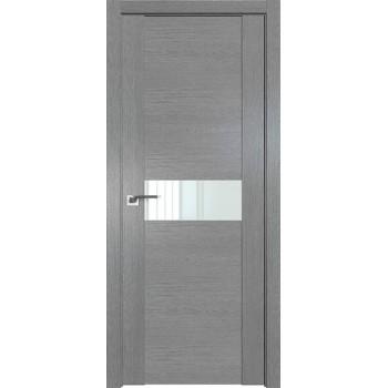 Дверь Профиль дорс 2.05XN Грувд серый - со стеклом (Товар № ZF209790)