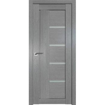 Дверь Профиль дорс 2.08XN Грувд серый - со стеклом (Товар № ZF209793)