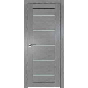 Дверь Профиль дорс 7XN Грувд серый - со стеклом (Товар № ZF212075)