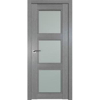 Дверь Профиль дорс 2.27XN Грувд серый - со стеклом (Товар № ZF209803)