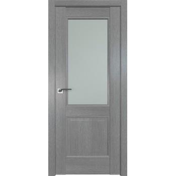 Дверь Профиль дорс 2.42XN Грувд серый - со стеклом (Товар № ZF209805)