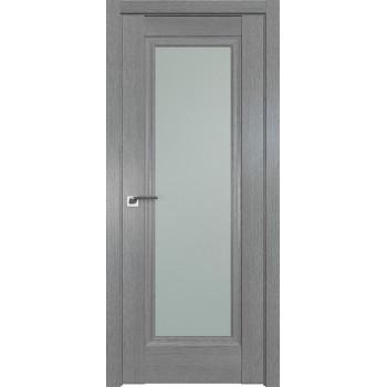 Дверь Профиль дорс 2.35XN Грувд серый - со стеклом (Товар № ZF209819)