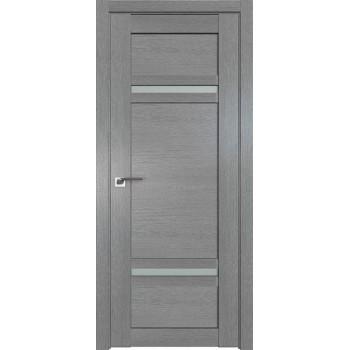 Дверь Профиль дорс 2.45XN Грувд серый - со стеклом (Товар № ZF212069)