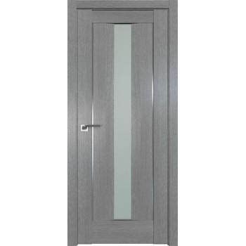Дверь Профиль дорс 2.48XN Грувд серый - со стеклом (Товар № ZF212070)