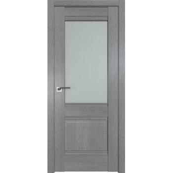Дверь Профиль дорс 2XN Грувд серый - со стеклом (Товар № ZF212071)