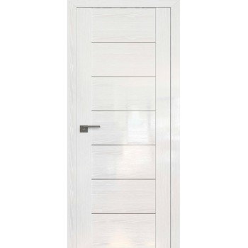 Дверь Профиль дорс 2.07STP Pine White glossy - глухая алюминиевый молдинг (Товар № ZF210013)