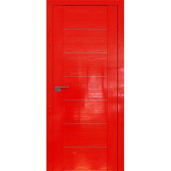 Дверь Профиль дорс 2.07STP Pine Red glossy - глухая алюминиевый молдинг (Товар № ZF210018)