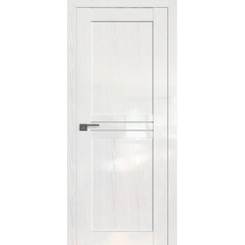 Дверь Профиль дорс 2.55STP Pine White glossy - со стеклом (Товар № ZF210027)