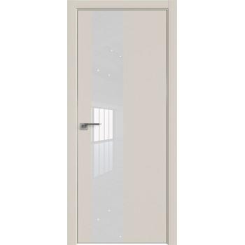 Дверь профиль дорс 5Е Магнолия сатинат - со стеклом (Товар № ZF209491)