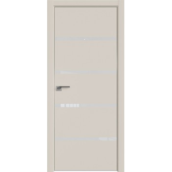 Дверь Профиль дорс 20E Магнолия сатинат - со стеклом (Товар № ZF209599)
