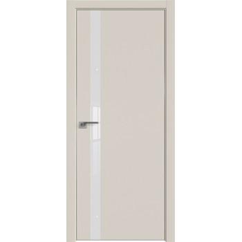 Дверь профиль дорс 6Е Магнолия сатинат - со стеклом (Товар № ZF209598)