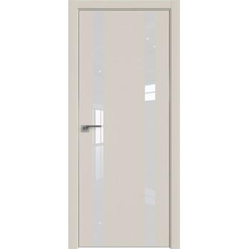 Дверь профиль дорс 9Е Магнолия сатинат - со стеклом (Товар № ZF209601)