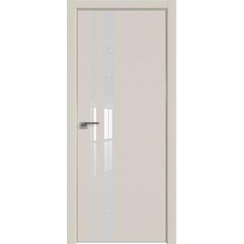 Дверь профиль дорс 16Е Магнолия сатинат - со стеклом (Товар № ZF209608)