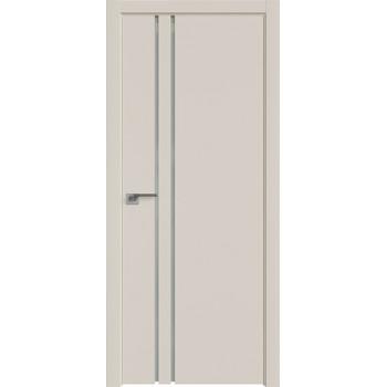 Дверь Профиль дорс 35Е Магнолия сатинат - со стеклом (Товар № ZF209617)