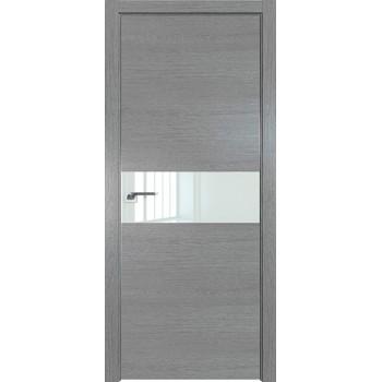 Дверь Профиль дорс 4ZN Грувд серый - со стеклом (Товар № ZF210306)