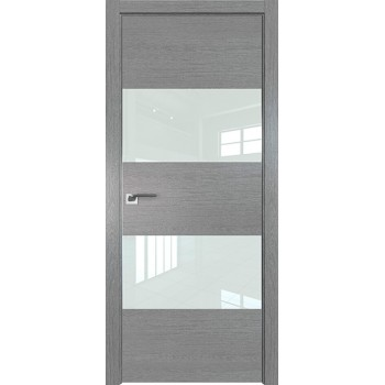 Дверь Профиль дорс 10ZN Грувд серый - со стеклом (Товар № ZF210331)