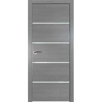 Дверь Профиль дорс 20ZN Грувд серый - со стеклом (Товар № ZF210334)