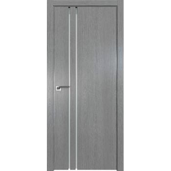 Дверь Профиль дорс 35ZN Грувд серый - со стеклом (Товар № ZF210338)
