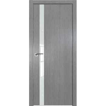 Дверь Профиль дорс 6ZN Грувд серый - со стеклом (Товар № ZF210351)