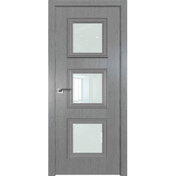 Дверь Профиль дорс 55ZN Грувд серый - со стеклом (Товар № ZF210347)