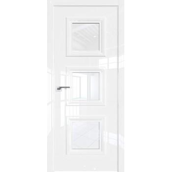 Дверь Профиль дорс 85LK Белый люкс - со стеклом (Товар № ZF209944)