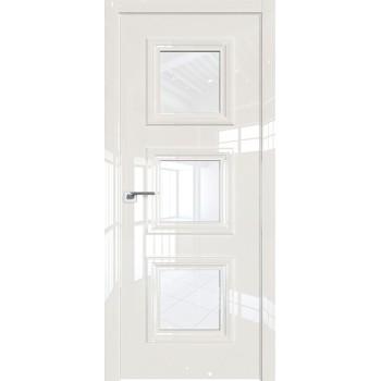 Дверь Профиль дорс 85LK Магнолия люкс - со стеклом (Товар № ZF210123)