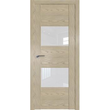 Дверь Профиль дорс 21N Дуб скай крем - со стеклом (Товар № ZF210537)