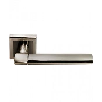 Дверная ручка Morelli DIY MH-21 SN/BN-S Никель белый/Черный никель (Товар № ZF212991)