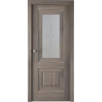 Дверь Профиль дорс 28Х Орех пекан - со стеклом (Товар № ZF209032)