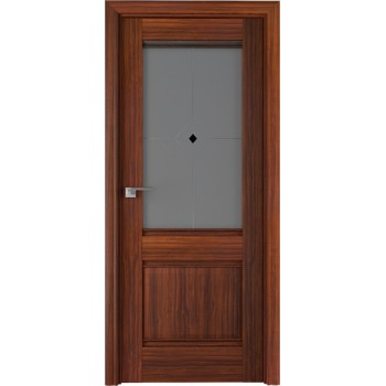 Дверь Профиль дорс 2Х Орех амари - со стеклом (Товар № ZF208942)