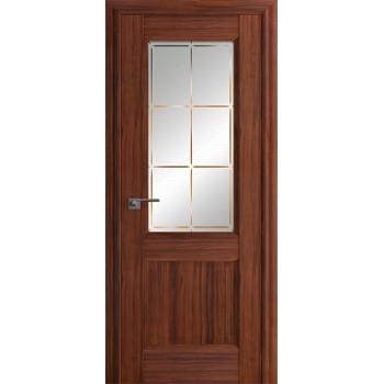 Дверь Профиль дорс 90Х Орех амари - со стеклом (Товар № ZF209006)