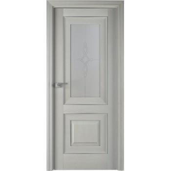 Дверь Профиль дорс 28Х Эш вайт - со стеклом (Товар № ZF208978)