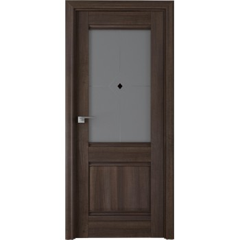 Дверь Профиль дорс 2Х Орех сиена - со стеклом (Товар № ZF208929)