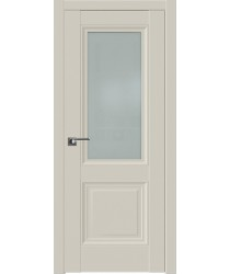 Дверь Профиль дорс 2.113U Магнолия сатинат - со стеклом (Товар № ZF211589)