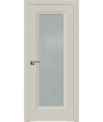 Дверь Профиль дорс 2.111U Магнолия сатинат - со стеклом (Товар № ZF211588)