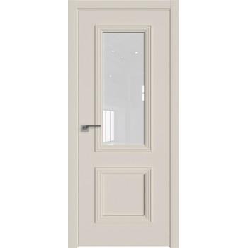 Дверь Профиль дорс 53Е Магнолия сатинат - со стеклом (Товар № ZF209612)