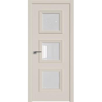 Дверь Профиль дорс 55Е Магнолия сатинат - со стеклом (Товар № ZF209613)
