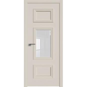 Дверь Профиль дорс 57Е Магнолия сатинат - со стеклом (Товар № ZF209614)
