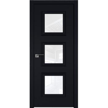 Дверь Профиль дорс 55Е Черный матовый - со стеклом (Товар № ZF209586)