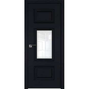 Дверь Профиль дорс 57Е Черный матовый - со стеклом (Товар № ZF209593)