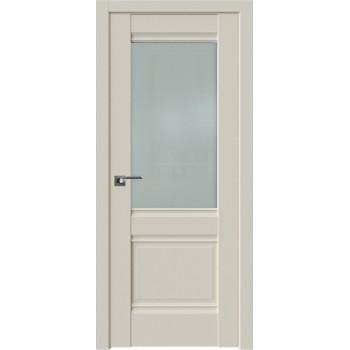 Дверь Профиль Дорс 2U Магнолия сатинат - со стеклом (Товар № ZF209130)