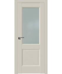 Дверь Профиль дорс 90U Магнолия сатинат - со стеклом (Товар № ZF211551)