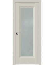 Дверь Профиль дорс 2.35U Магнолия сатинат - со стеклом (Товар № ZF211562)
