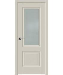 Дверь Профиль дорс 2.37U Магнолия сатинат - со стеклом (Товар № ZF211564)