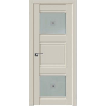 Дверь Профиль Дорс 6U Магнолия сатинат - со стеклом (Товар № ZF209203)