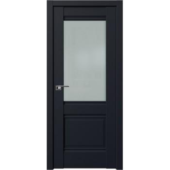 Дверь Профиль Дорс 2U Черный матовый - со стеклом (Товар № ZF209158)